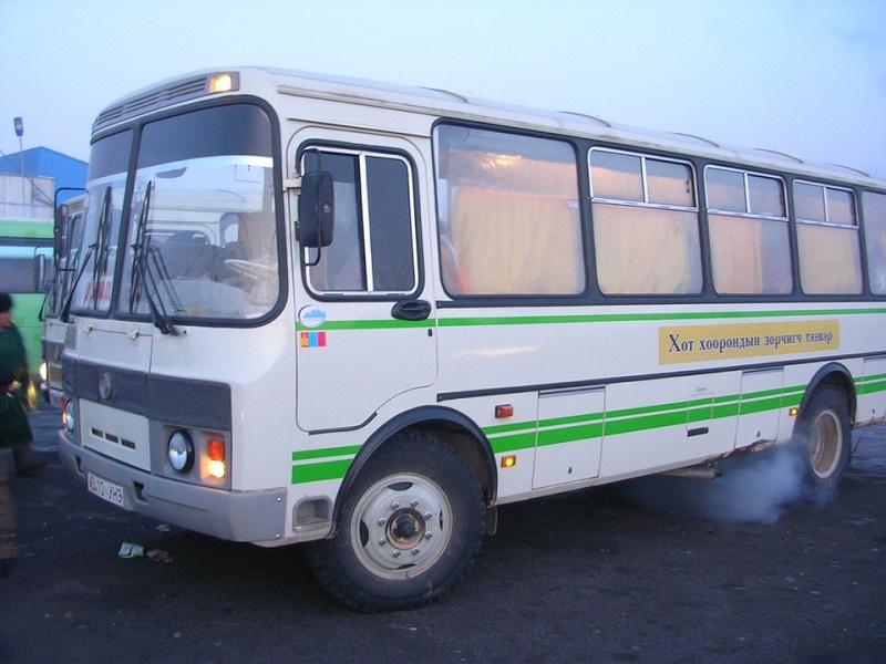 チョイバルサンへ行くバス