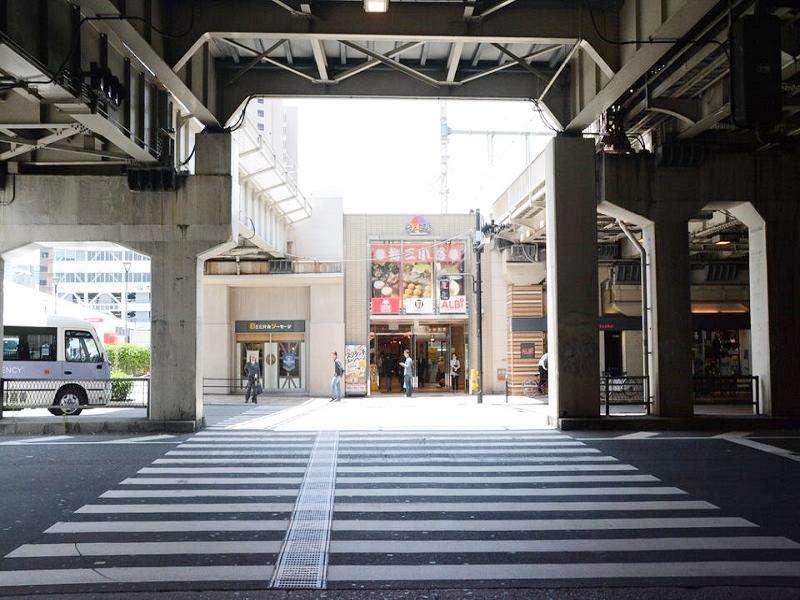 桜橋出口付近の信号