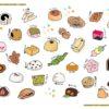 イラストレーター・玉村あけみさんに和菓子のイラストを描いていただきました