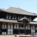 東大寺と奈良公園の鹿と包丁