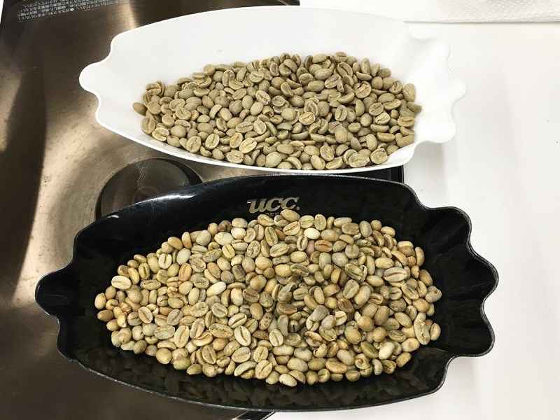 焙煎前の生豆