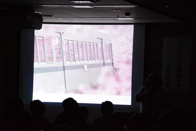 中井精也さんの講演会 スライド桜と鉄道