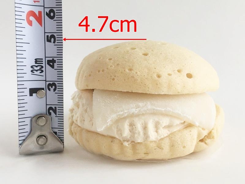 桔梗信玄餅風すふれケーキの大きさ
