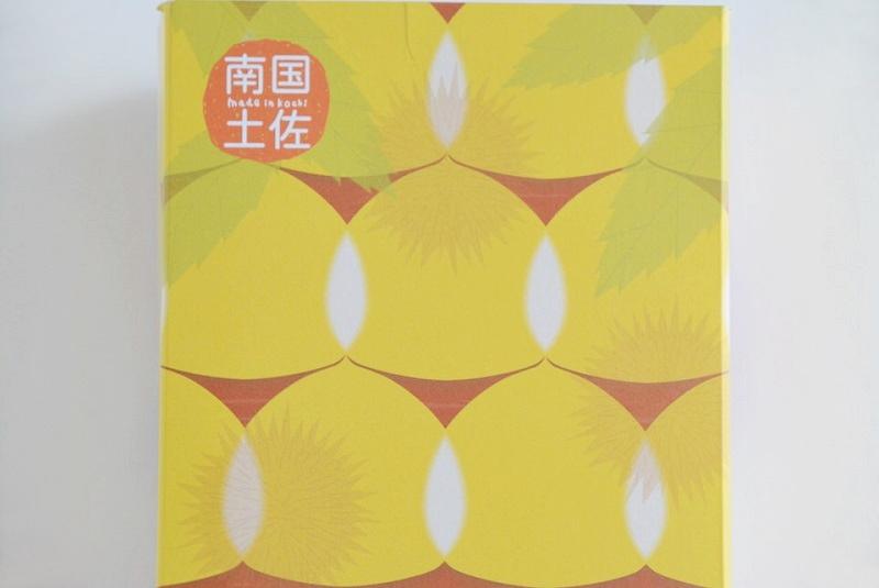 四万十清流ほくほくマロンのパッケージに描かれた栗の絵