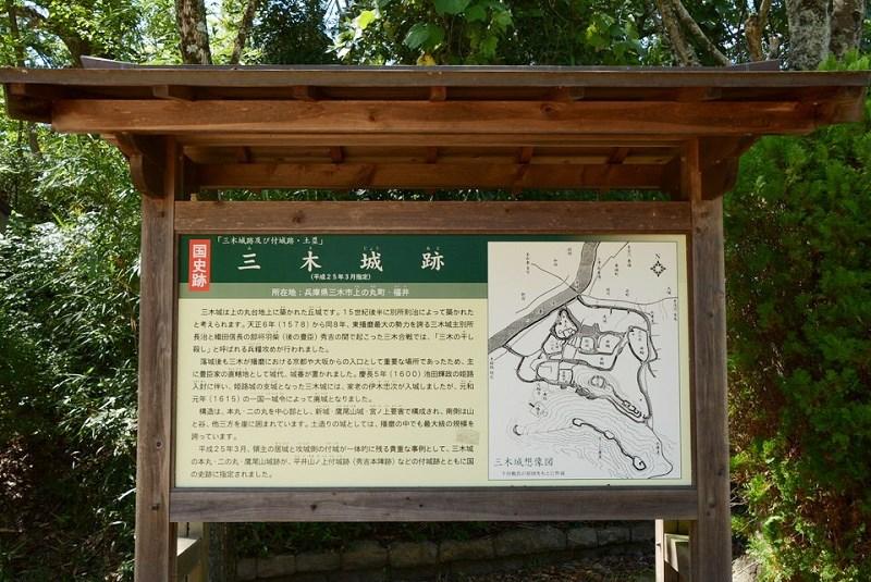 三木城跡の案内図