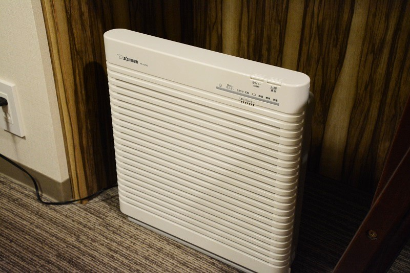 アーバンホテル三木の部屋の空気清浄機