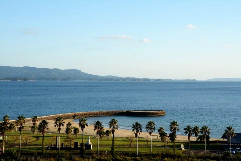 湯快リゾートホテル蘭風の部屋から見える景色写真