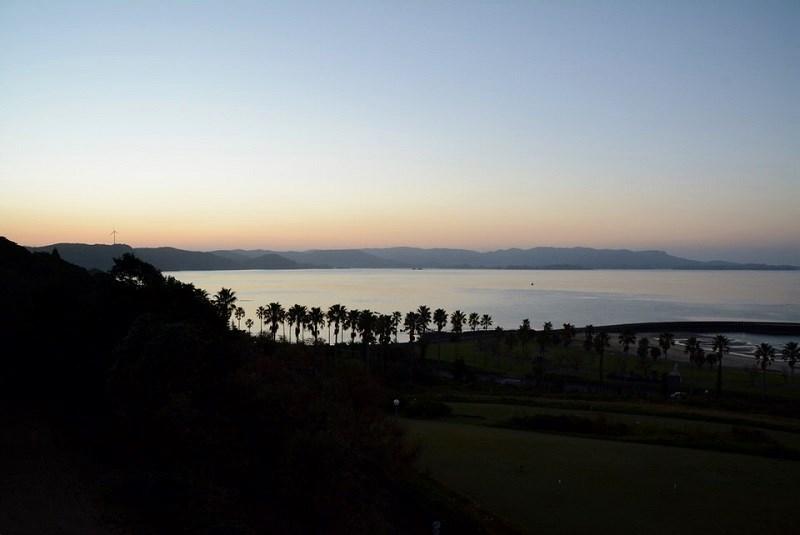 ホテル蘭風の部屋から見える朝陽