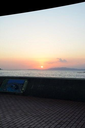 ほっとふっと105から見える夕日