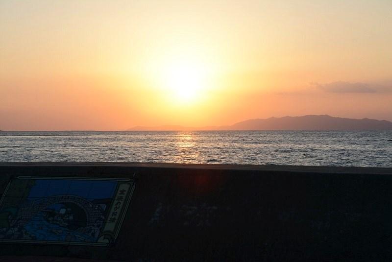 ほっとふっと105から見える日没の写真