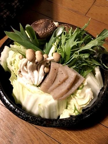 いわやのぼたん鍋の野菜セットの写真