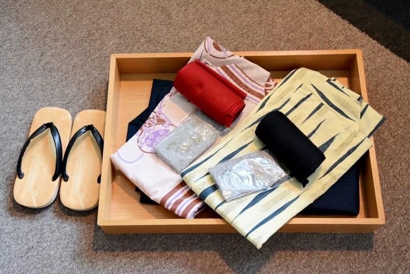 小浜「旅館ゆのか」の浴衣と草履