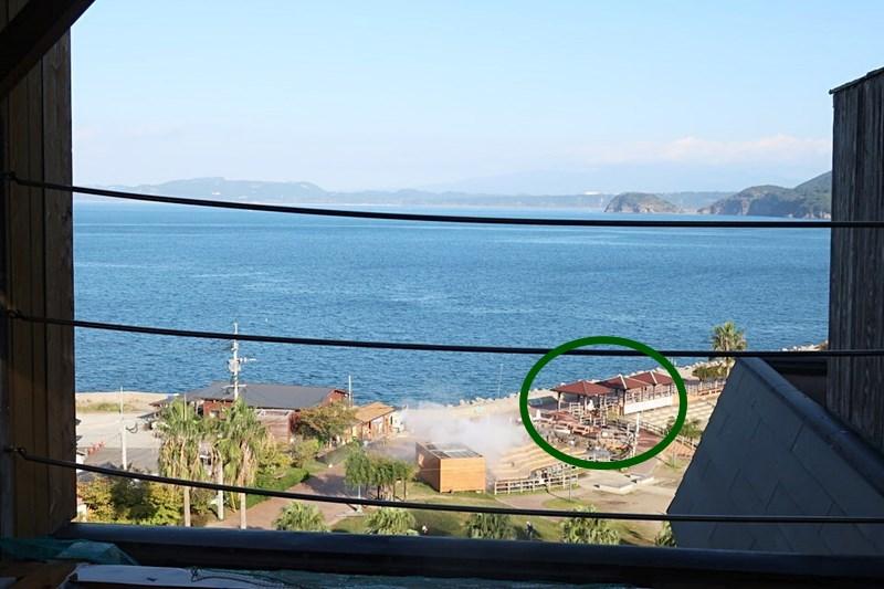 小浜「旅館ゆのか」の露天風呂(男性)から見える景色の写真