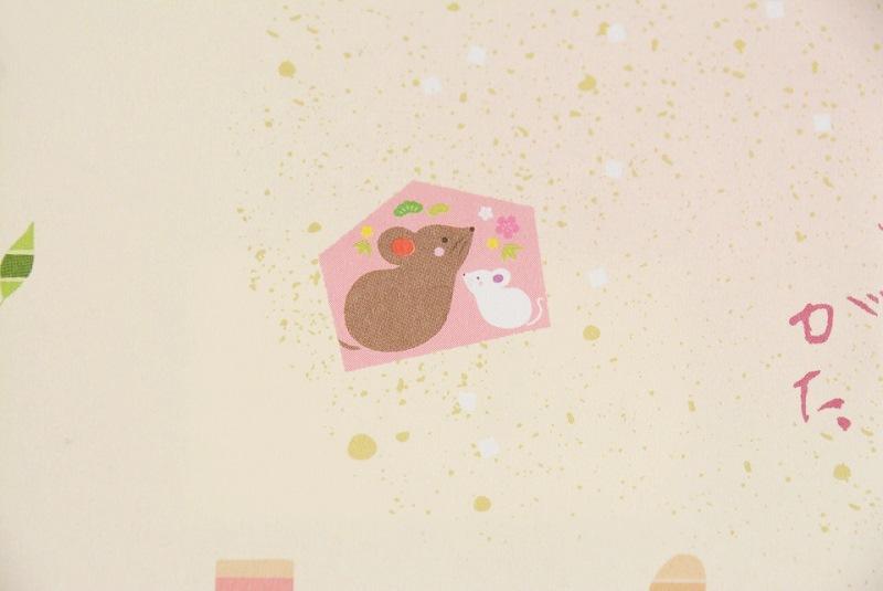 ささらがた干支の包装紙に描かれているネズミ