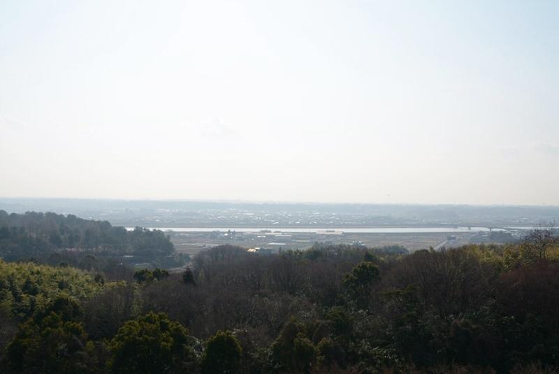 橋の展望台から見える加古川