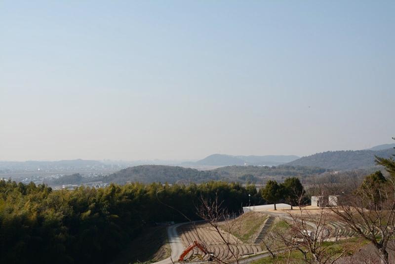 橋の展望台の南西の風景