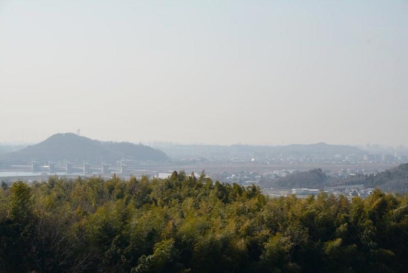 橋の展望台からの風景