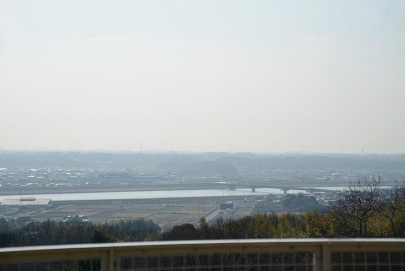 橋の展望台から見える上荘橋
