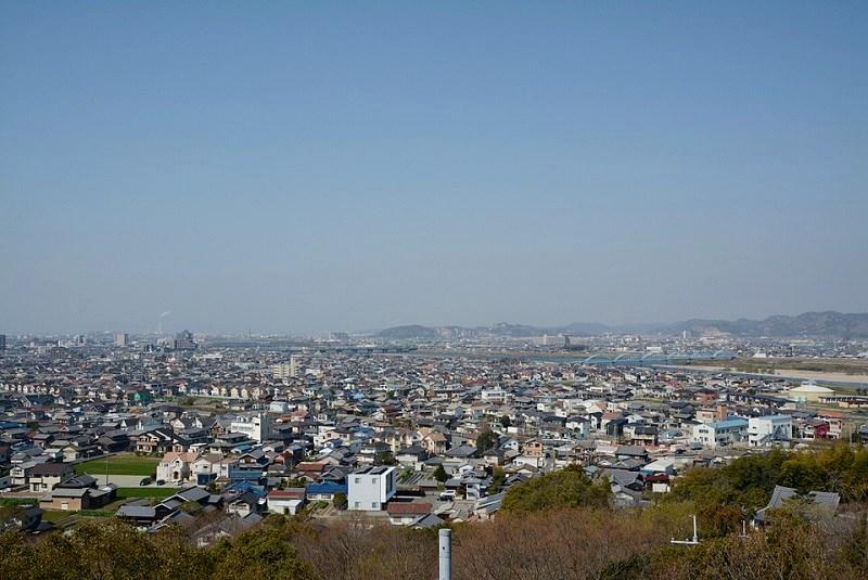 日岡山展望台からの眺め(加古川市街)