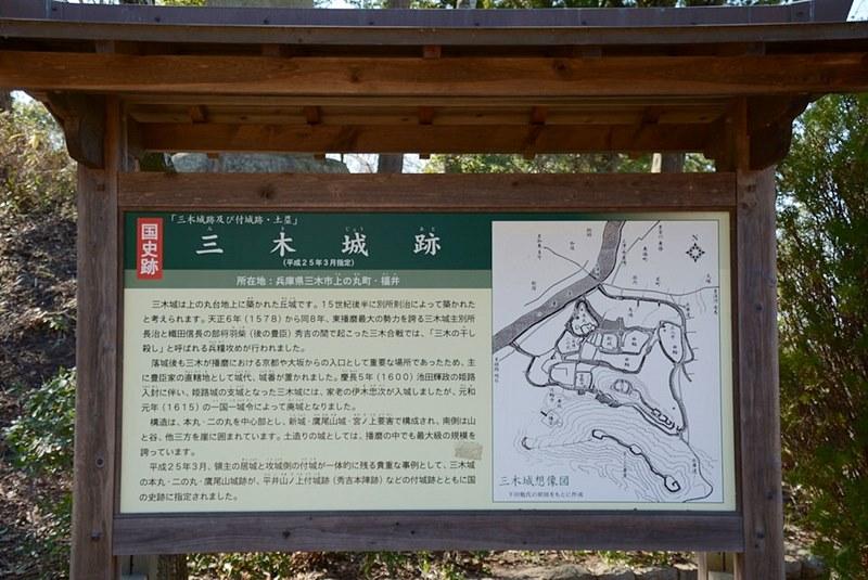 三木城跡の案内板