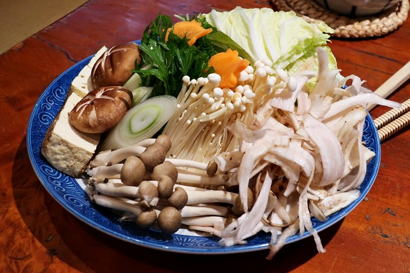 如月庵ぼたん鍋セットの野菜の写真