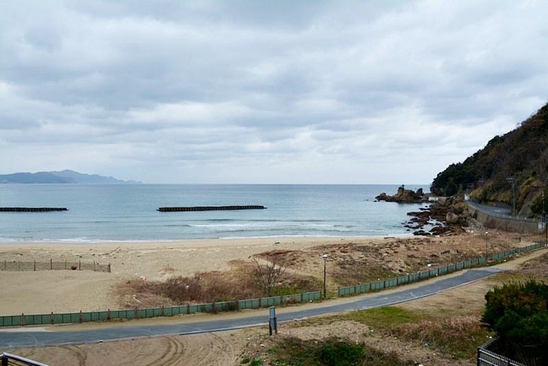 「料理旅館 夕日ヶ浦」から見える日本海の写真