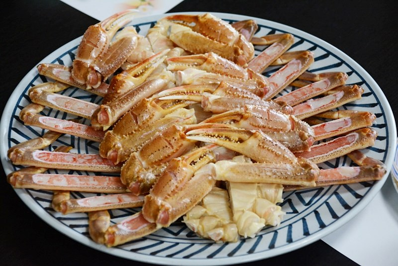「料理旅館 夕日ヶ浦」のズワイガニの写真
