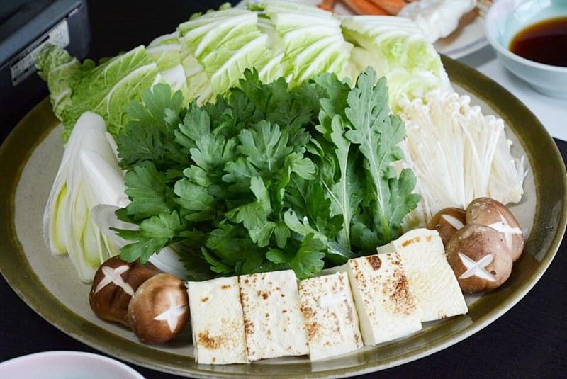 カニすきの野菜セットの写真