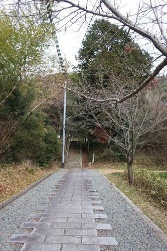 大歳神社の駐車場付近