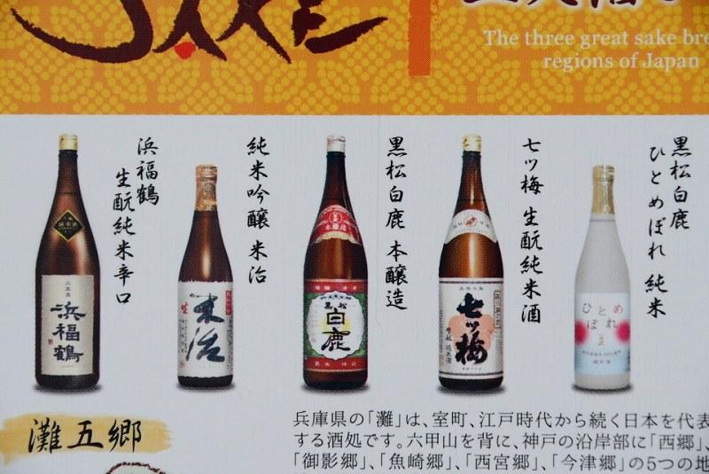 灘五郷チョコレートで使用されている日本酒の種類