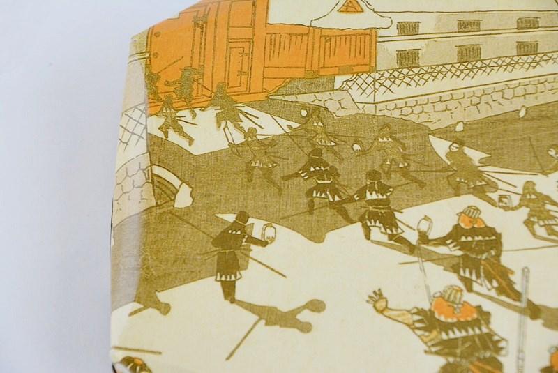 三島屋本店の塩味饅頭の外箱に描かれた赤穂浪士の絵