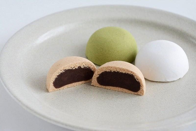 三島屋本店の塩味饅頭(きなこ、抹茶、白)