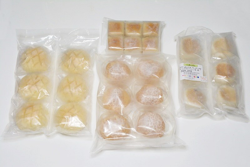 虹の穂の4種類のパン
