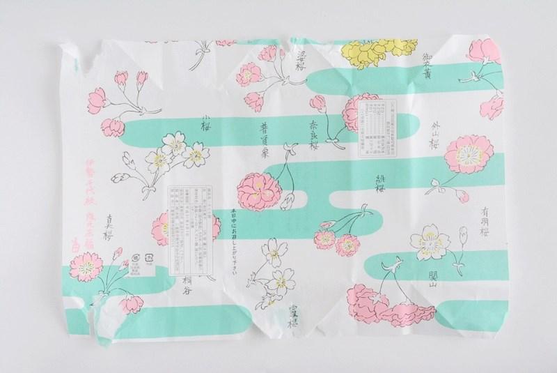 朔日餅(4月)さくら餅の包装紙