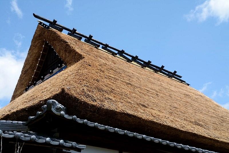 丹波篠山「一会庵」の茅葺屋根