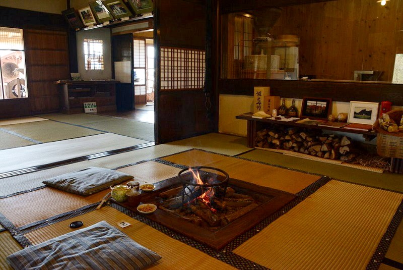 丹波篠山「一会庵」の囲炉裏