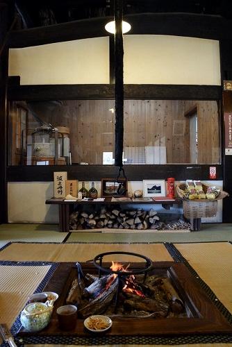 丹波篠山「一会庵」の囲炉裏がある座席