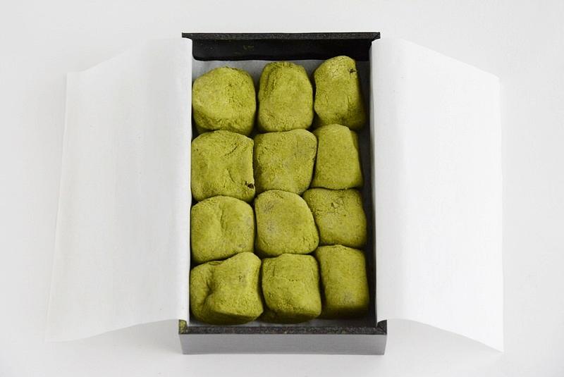 七條甘春堂「抹茶餅」の箱の中身