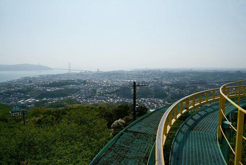 須磨浦山上遊園サイクルモノレールから見えるの風景