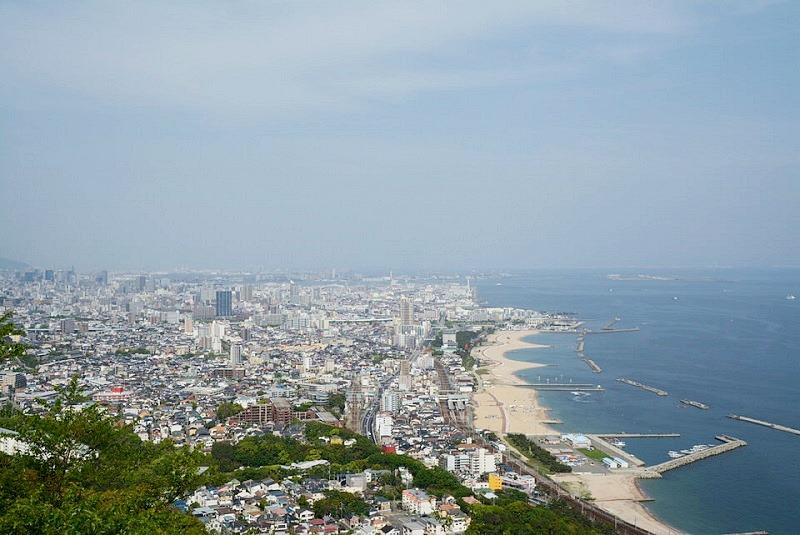 須磨浦山上遊園の展望(神戸市内)
