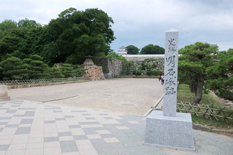 明石城の正面入口
