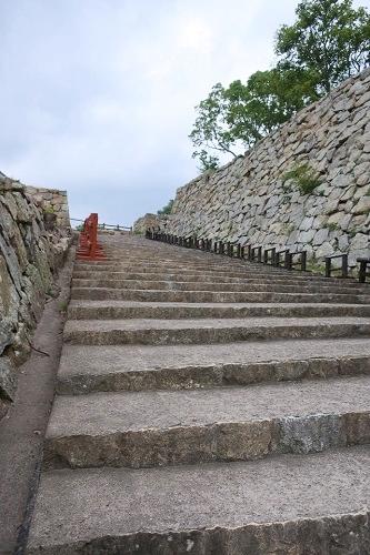 明石城跡内の階段