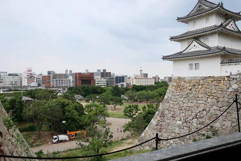 巽櫓(たつみやぐら)と明石市内