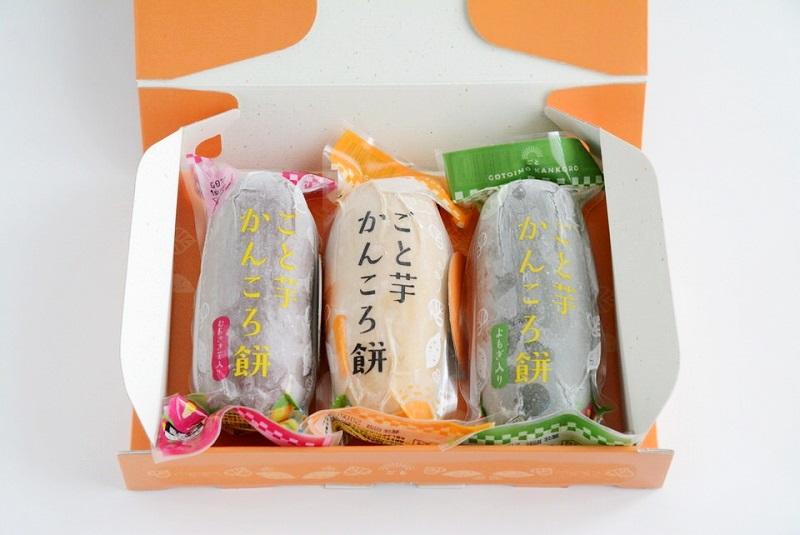 「ごと芋かんころ餅 世界記念セット」の開封写真