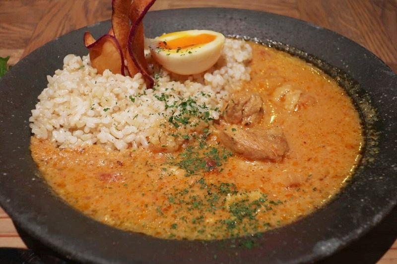 発酵カレーセットのカレールーと玄米