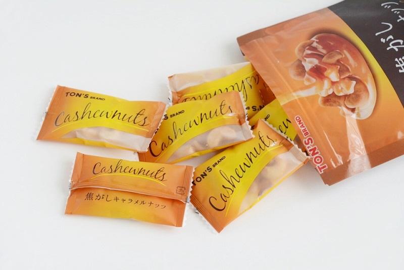東洋ナッツ焦がしキャラメルナッツ(カシューナッツ)の大袋の中身
