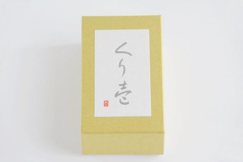 恵那川上屋の羊羹「くり壱」の外箱