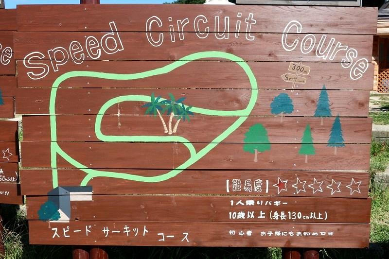 ネスタリゾート神戸ワイルドバギー「スピードサーキットコース」の案内板