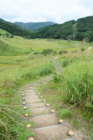 砥峰高原内のハイキングコース(左回り)