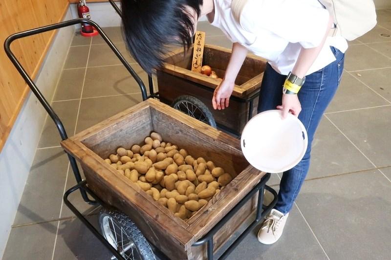 ネスタリゾート神戸ワイルド・ハーベストの野菜が置いてある部屋